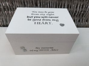 Personalised  In Memory Of Box Loved One ~ SISTER ~ any Name Bereavement Loss - 332624092552